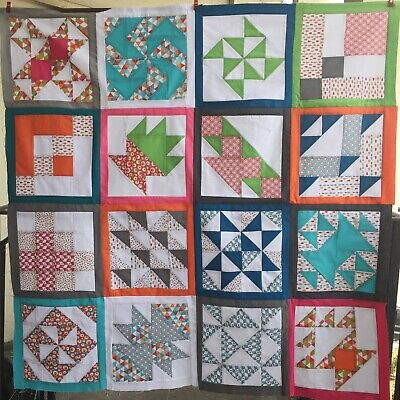 Patchwork Quilt Kit Complete Beginners Step By Step Instructions 95cm Square • 65£