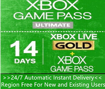 $1.39 • Buy Xbox Live Gold + Game Pass (Ultimate) 14 Day 2 Weeks Trial Code Instant Delivery
