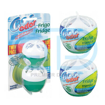 Croc Odor Fridge XL Deodoriser  Odour Eliminator Freshener 140g ,Twin Pack 2x33g • 6.49£