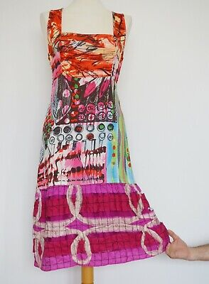 AU143.81 • Buy Save The Queen Multi Colored Sleeveless Dress, Size:L