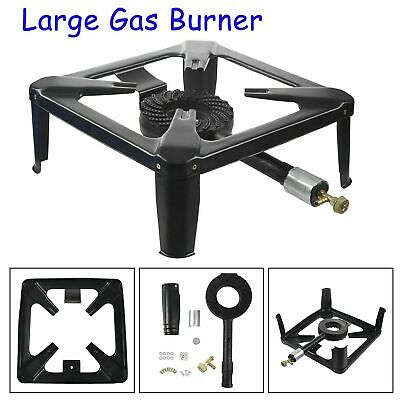 £20.99 • Buy New Cast Iron Large Gas LPG Burner Cooker Gas Boiling Ring Restaurant Catering