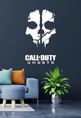 Call Of Duty Ghosts Vinyl Cut Wall Art Matt Finish • 9.50£