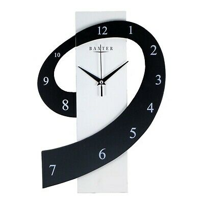 AU52.95 • Buy New Contemporary Wall Clock Black And White WG6064 1kg