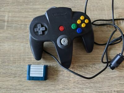 AU53.50 • Buy N64 Controller Black N64 Memory Card  Excellent Condition!