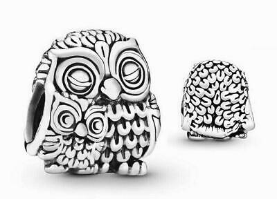 £14.99 • Buy Genuine Pandora ALE 925 Sterling Silver Mother Owl And Baby Owl Charm 791966