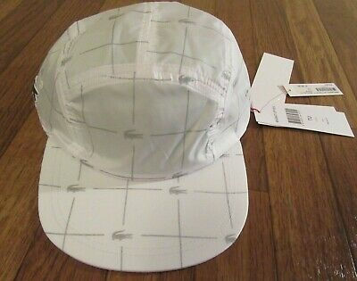 $ CDN150.65 • Buy Supreme Lacoste Reflective Grid Nylon Camp Cap Hat White Strapback SS18H4 New DS