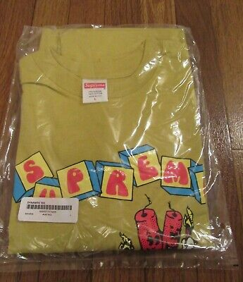 $ CDN130.04 • Buy Supreme Dynamite Tee T-Shirt Size Large Acid Yellow SS19 SS19T20 Brand New 2019