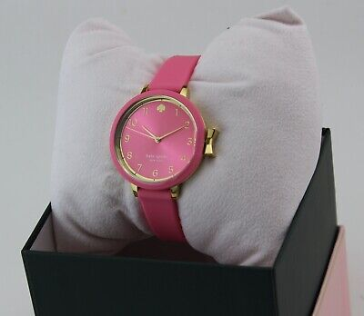$ CDN107.25 • Buy New Authentic Kate Spade Park Row Gold Pink Silicone Women's Ksw1518 Watch