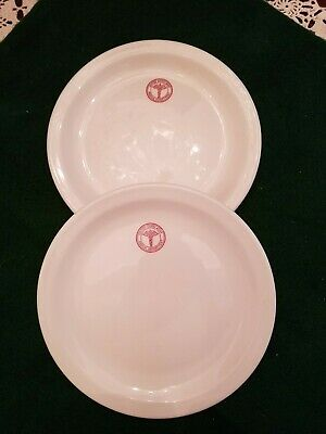 $12.99 • Buy 2 US ARMY MEDICAL DEPT. 7 1/4  Plates Military WWII  MAYER China Dessert Salad