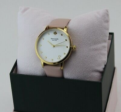 $ CDN107.25 • Buy New Authentic Kate Spade Metro S Gold Pink Leather Women's Ksw9010s Watch
