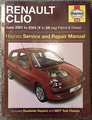 Renault Clio Haynes Service And Repair Manual June 2001-2005 (v-55 Reg) New Seal • 7.99£