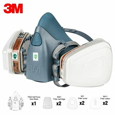 $ CDN85.57 • Buy 7in1 3M 7502 Gas Chemicial Pollutant Respiratory Safety Protector SALE!