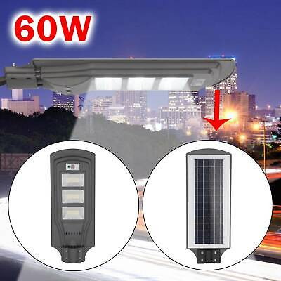 60W LED Wall Street Light Solar Powered PIR Motion Lamp Garden Road Path UK • 24.99£
