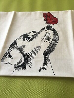 Embroidered Quilt Block/Panel. Large Design. Labrador On Cotton Fabric • 6.50£