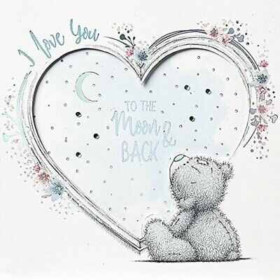 Me To You Tatty Teddy Greetings Card I Love You To The Moon And Back (Handmade) • 3.50£