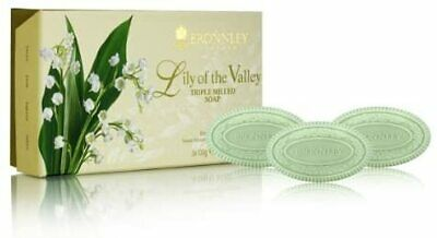 Bronnley Lily Of The Valley 3 X 100g Triple Milled Soaps • 10.80£