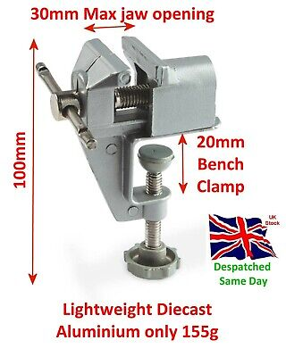 £7.59 • Buy Mini Hobby Bench Vice Model Jewellery Clamp Table Vice 30mm Jaw Craft Beading