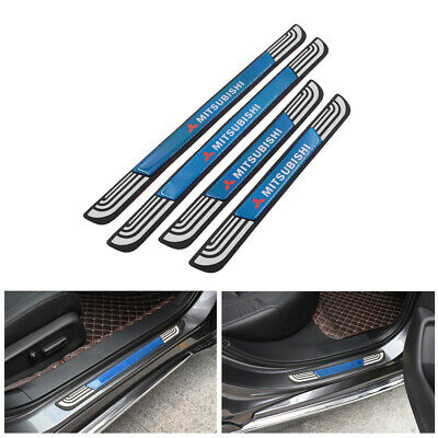 $28 • Buy 4PCS Silver Rubber Car Door Scuff Sill Cover Panel Step Protector For Mitsubishi