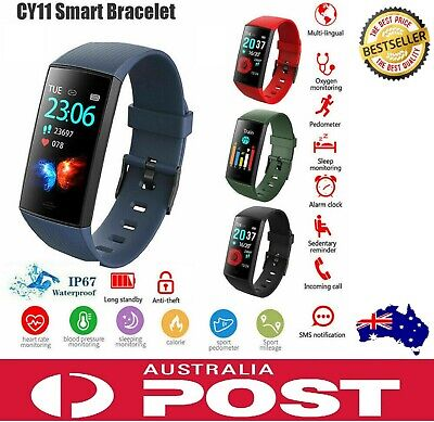AU48 • Buy Fitbit Charge 3 Style CY11 Smart Watch Band Heart Rate Blood Pressure Monitor
