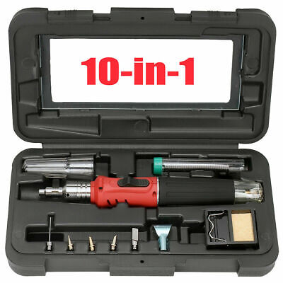 Cordless Auto Ignition Butane Gas Soldering Iron Kit Ignite Welding Torch Tool • 25.99£