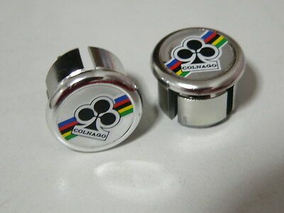 $14 • Buy 2 Couple,new NOS-ORIGINAL-COLNAGO Handlebar End Plugs,Bar End Caps, Endcaps