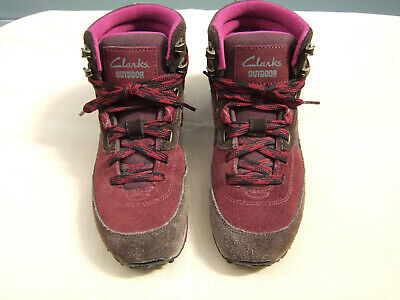 Clarks Size 5 Ladies Women's Lt Wt Summer Trail Walking Boots Red 26102842 VGC ! • 15£