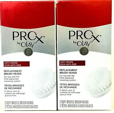 AU34.19 • Buy 2 Boxes Pro X By Olay Anti Aging 2 Count Soft Bristles Replacement Brush Heads