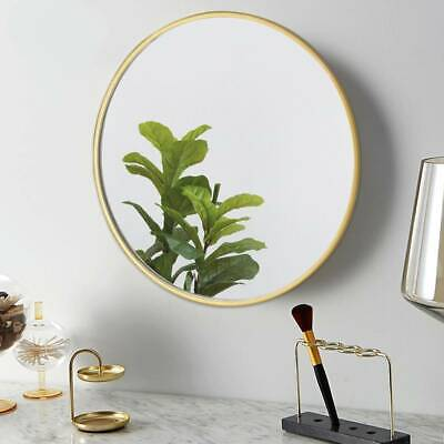 50cm Large Round Gold Wall Mirror Brushed Gold Metal Frame Round Wall Mirror New • 24.99£