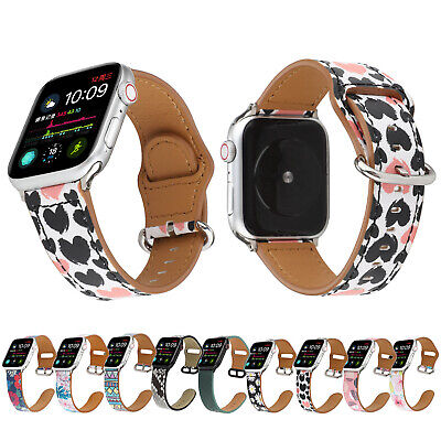 $ CDN16.22 • Buy Lovely Heart Flowers Leather Band For IWatch Apple Watch Series 5 4 3 2 1 Strap