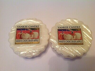 """Yankee Candle Tarts Wax Melts X 2 From USA """"White Chocolate Apple"""" • 5£"""