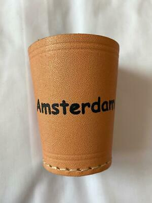 £5.99 • Buy Leather Dice Cup, Quiet Shaker, Personalised, Perudo, Casino Games, Yahtzee..!!!