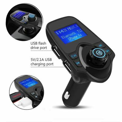Wireless Bluetooth FM Transmitter Radio Car Kit MP3 Music Player & 2 USB Charger • 10.99£