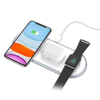$ CDN20.90 • Buy 10W 3in1 Qi Wireless Charger Pad Mat For Apple Watch 5/4/3/2/1 IPhone 11 11Pro