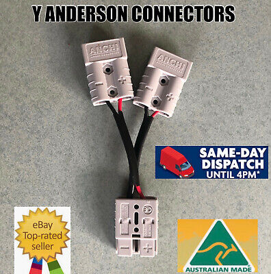 AU15.50 • Buy  Anderson Style Plug 50 Amp Connector Double Y Adaptor 5mm Twin Auto Cable