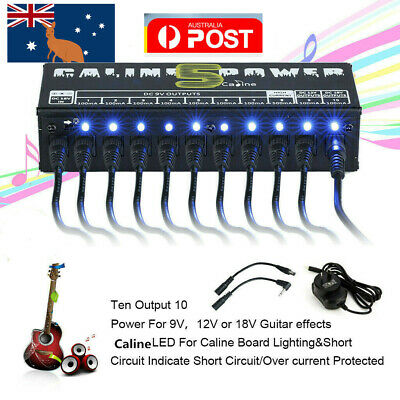$ CDN46.79 • Buy CP-05 10CH Guitar Pedal Board Effect Caline Power Supply 9V/12V Output Isolated