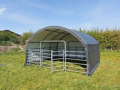 Portable Field Shelter - Livestock Farm Machinery Shelter 13ft X 13ft X 8ft • 895£