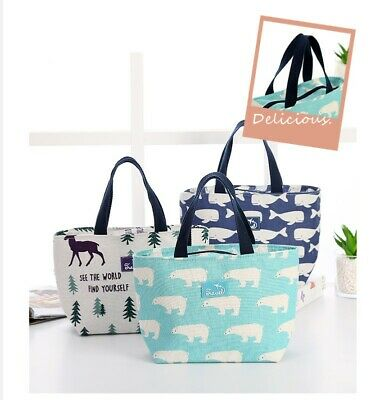 AU10.95 • Buy Large Portable Lunch Bag Insulated Thermal Cooler Box Carry Tote Travel Bag