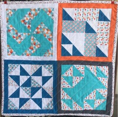 """Patchwork Mini Sampler  Kit Complete W/ Instructions Cushion Top 19""""Square #4 • 12.50£"""