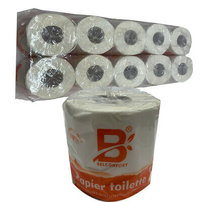 AU13.95 • Buy Belconfort Toilet Paper 10 Rolls X 350 Sheets Tissue Individually Wrapped Bulk