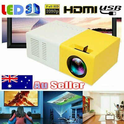 AU61.95 • Buy Portable Mini Projector YG300 3D HD LED Home Theater Cinema 1080P AV USB HDMI AU