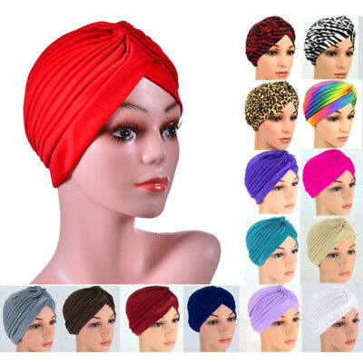 AU4.69 • Buy Turban Cap Hijab Headband Bandana Wrap Headband Band Plain Hat Hair Loss Chemo
