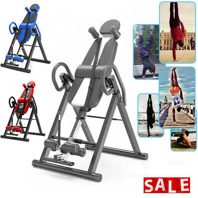 £124.11 • Buy Inversion Table Folding Home Indoor Fitness Exercise Back Pain Bench Adjustable