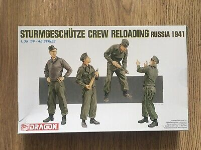 Dragon 1:35 WW II German STuG Assault Gun Loading Crew Soldiers  X4 MIB  • 17.99£