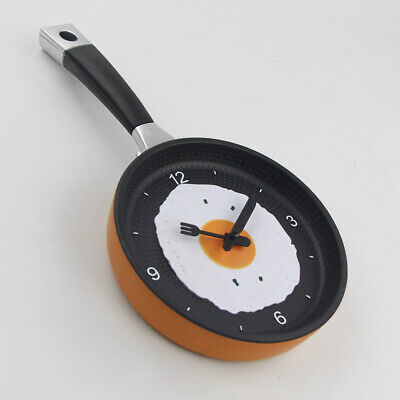 Kitchen Clock Frying Pan Shape Creative Kitchen Stylish Wall Hanging Clock Gift  • 11.98£