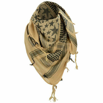 $13.90 • Buy Mil-Tec Shemagh Scarf Stars Tactical Military Cotton Coyote