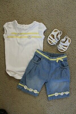 $24.99 • Buy Gymboree Outlet 3pc.baby Girl Bee Chic Outfit 3-6 Months/01(RARE!)