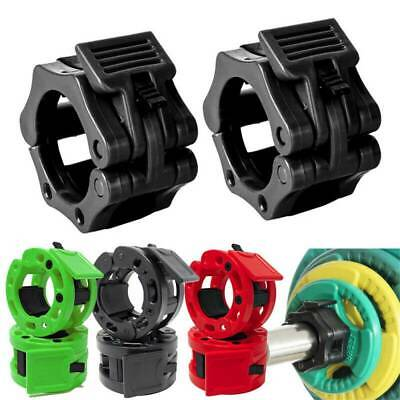 $ CDN11.85 • Buy 2x Olympic Dumbbell Barbell Bar Lock 1  Weight Clamps Collars Gym Training 25mm