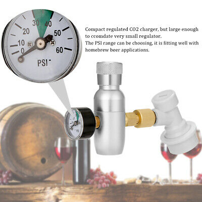 CO2 Mini Gas Regulator & Corny Keg Ball Lock Disconnect For Beer Tap & Homebrew • 19.99£