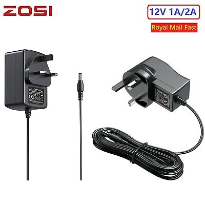 ZOSI 12V 2A 1A DC Power Supply Adapter Transformer LED CCTV Camera 2.1mm UK Plug • 5.39£
