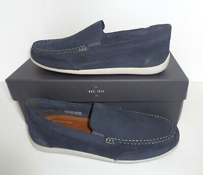 Rockport Venetian Mens Navy Real Leather Slip On Shoes RRP £80 New Sizes 7-11 • 29.98£